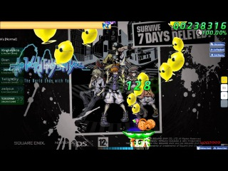 Walkthrough Osu (CTB) beatmap The World Ends With You - DejaVu [Normal] - (Without mods)