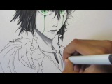 How to draw Ulquiorra from Bleach