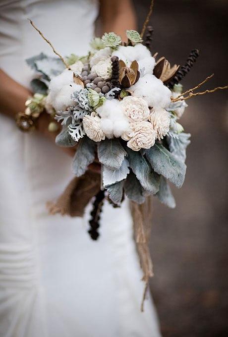 Зимние свадебные букеты 2015-2016