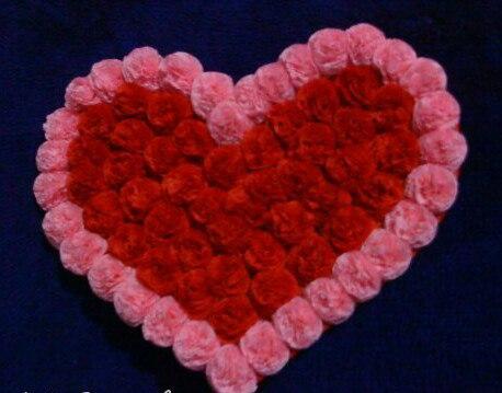 Объемные сердечки из салфеток своими руками схемы