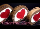 КЛУБНИЧНЫЙ РУЛЕТ Сердце ОЧЕНЬ ВКУСНЫЙ И КРАСИВЫЙ Шоколадный бисквитный торт Strawberry Roll Cake