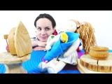 Таня учит Куклу Доминику ухаживать за малышом. Видео для девочек.