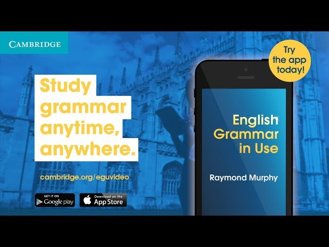 Improve your English Grammar with the English Grammar in Use App