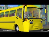 The Wheels on the Bus go round and round - Animation English Nursery Rhyme song - Mother Goose
