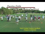 GREAT DRILL VIDEO - Hex Drive Blocking Knock Out Drill - Youth Football Coaches Handbook