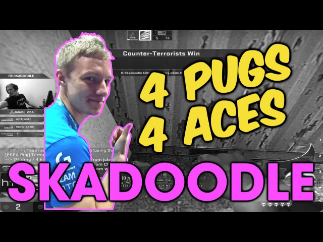 Cloud9 Skadoodle: 4 PUGS / 4 ACES [ESEA Highlights]