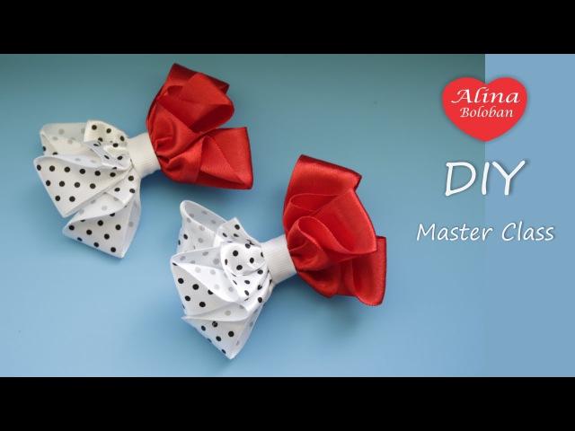 Школьные Бантики на Заколках Алина Болобан DIY School bows