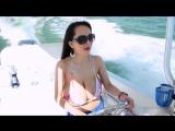 Big boobs Sexy Bikini on a Boat