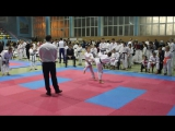 4-й бой кумитэ (финал) Кубок Харьковской области по каратэ JKS (14-11-2015)
