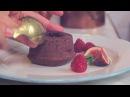 Шоколадный фондан с домашней карамелью