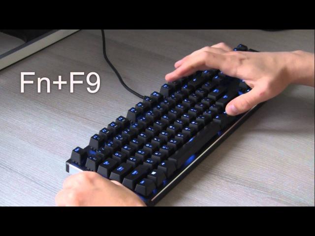 Видеоинструкция. Настройке подсветки на клавиатуре QCYBER DOMINATOR