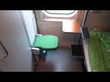 Финляндия. Купе с душем и туалетом. Compartment with toilet and shower in Finland..