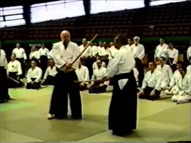 Morihiro Saito Sensei 5 kumitachi with Ulf Evenas Sensei