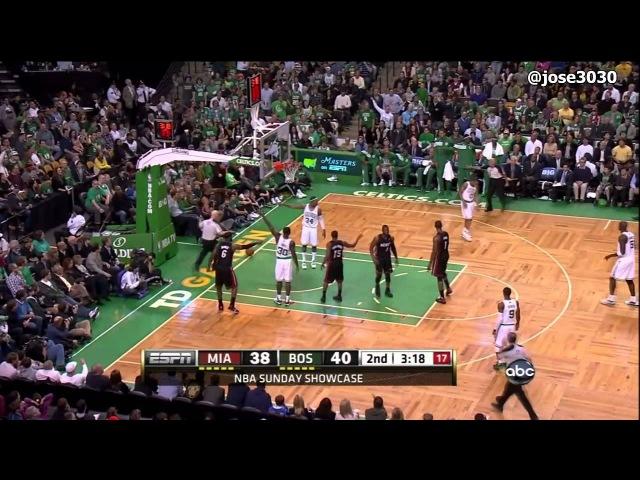 Avery Bradley Blocks Dwyane Wade - Heat @ Celtics 4/1/2012
