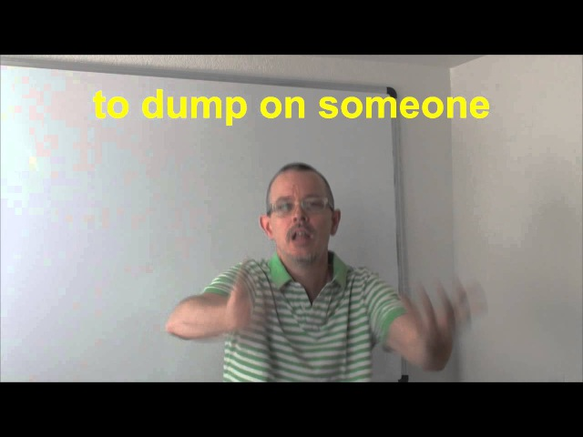 Learn English: Daily Easy English Expression 0420: to dump on someone
