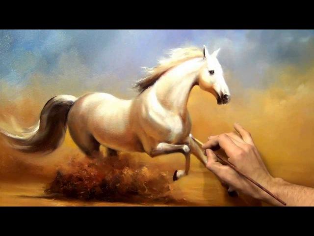 Южаков урок 19 Пишем Коня живопись маслом