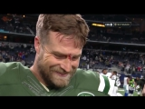 Ryan Fitzpatrick Photobombed by Nick Mangold, Asks Is This Live _ Jets vs. Cowboys _ NFL