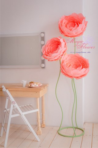 be2b1533cf8c9 Большие цветы из бумаги в Екатеринбурге | ВКонтакте