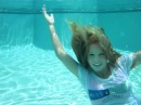 Playboy Miss Social Trina Mason fully clothed underwater