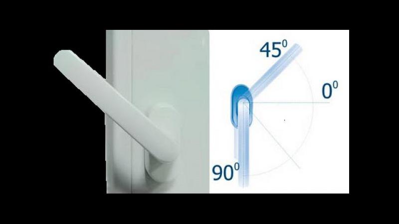 Как перевести фурнитуру окна в зимний и летний режим?