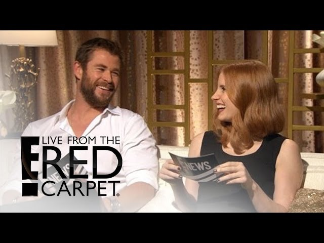 Chris Hemsworth Jessica Chastain Interview Each Other | E! Live from the Red Carpet