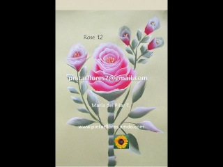 Roses one stroke. Rosas pinceladas. Come dipingere la rosa.Wie zu malen eine Rose. Rosa 12