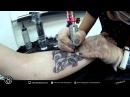 Процесс нанесения татуировки Студия DDuck Tattoo Moscow