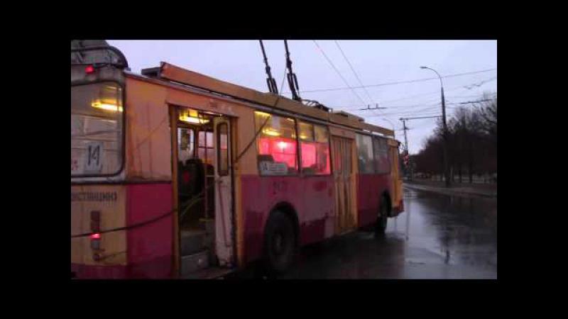 Слет штанги у троллейбуса ЗИУ 682Г г Тольятти