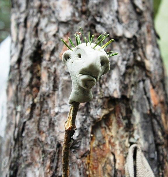 Русское трахтибидох в лесу