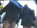 Spy cam - upskirt - many panties of high school girls