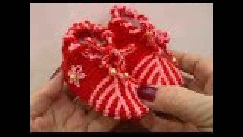 Пинетки крючком для начинающих. Вязание пинеток. Тунисское вязание. (Knitting booties)