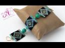 Video creazioni 33: Bracciale e orecchini con perline - square stitch, herringbone, raw