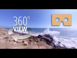 Pacific Coast Highway Roadside Waves  360 Video  Virtual Reality Experience