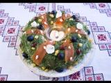 Новогодний салат РОЖДЕСТВЕНСКИЙ ВЕНОК Новорічний салат РІЗДВЯНИЙ ВІНОК
