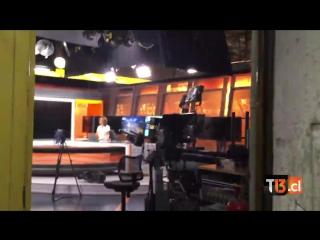 Registro del sismo  desde prensa de Canal 13