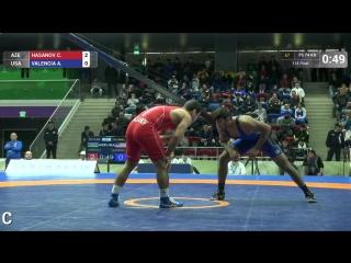 Талыши онлайн - 1⁄4 FS - 74 kg׃ Джабраил Гасанов (AZE) df. A. VALENCIA (USA) by TF, 11-1