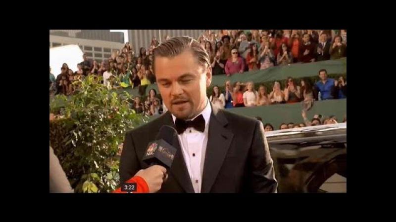 Эмоции Леонардо Ди Каприо после получения Оскара 2016./Leonardo DiCaprio received an Oscar.MSQRD.me
