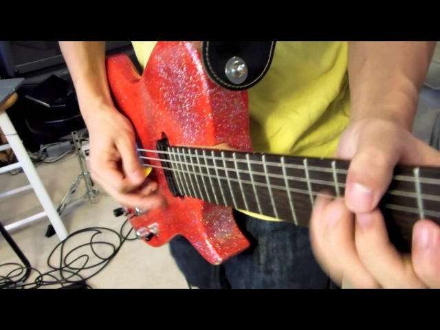 Plug in Baby Muse HD Guitar Cover Manson Red Glitter Glitterati Replica