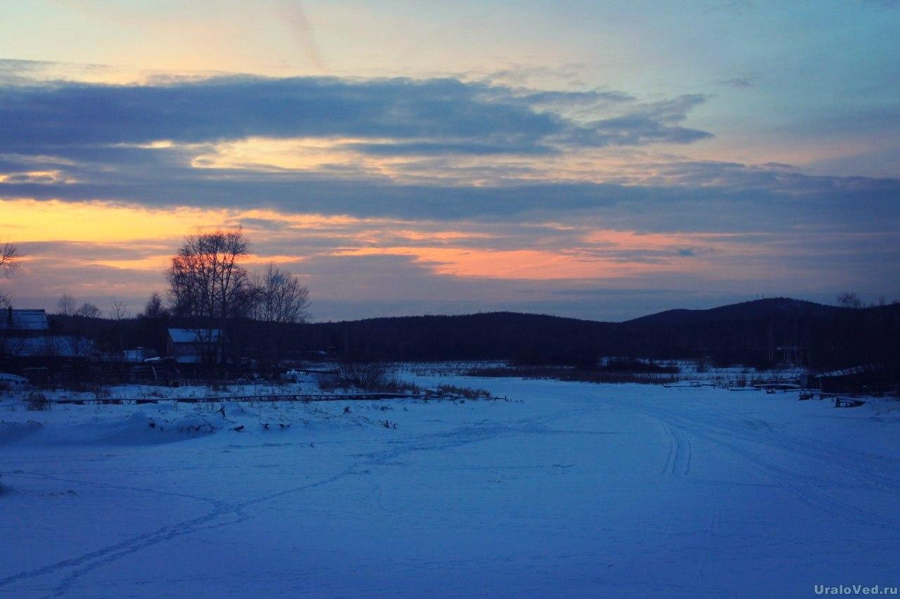 Закат над Исетью