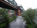 Suspension Railway in Wuppertal, Germany (schwebebahn)