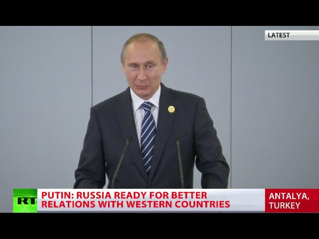 ISIS financed from 40 countries incl G20 members Putin FULL SPEECH