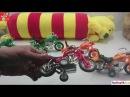 Video Cho Bé Vui - Xe máy đua và biểu diễn xiếc, Toys motorcycle Racing and circus performances