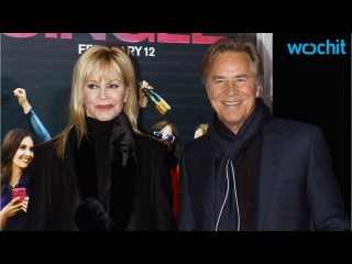 Melanie Griffith and Don Johnson Walk the Carpet Togather....