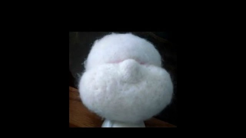 How to needle felt sculpt a Cloth doll face in wool