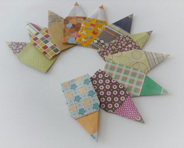 закладка для книг своими руками из бумаги оригами