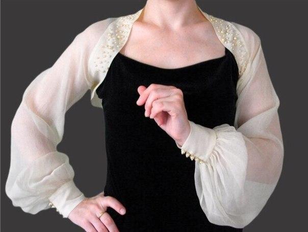 Болеро на платье своими руками