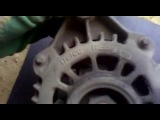 opel vectra b x20xev замена щеток и регулятора напряжения  на  генераторe