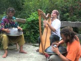 Alizbar - Celtic harp Amin Varkonyi &amp Norbi Pavel Two Hang and Celtic harp improvisation