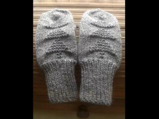 ❄ Зимние варежки ❄Часть 3 ❄ Knitting mittens spokes - вязание спицами.Варежки мастер класс.