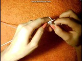 Белый снуд английской резинкой.Вязание снуда спицами+хомут спицами.
